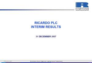 Interim Result Presentation 2007/08 - February 2008